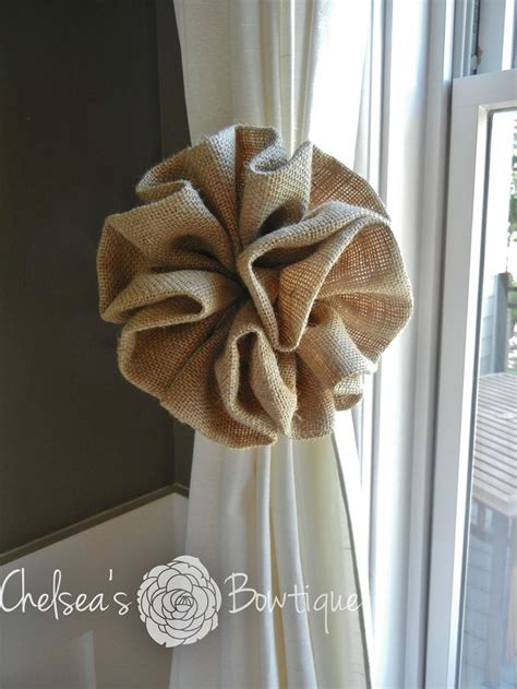 bow curtain tie backs burlap curtain tie back could use these as pew bows