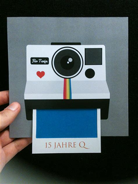 Diy Polaroid Pop Up Card Template by Polaroid Card On Pantone Canvas Gallery