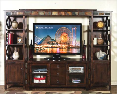 design home entertainment center sunny designs santa fe home entertainment center su 3416dc