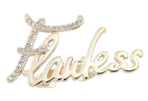 flawless nameplate ring