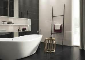 Black Bathroom Tiles Ideas La Salle De Bain Noir Et Blanc Les Derni 232 Res Tendances