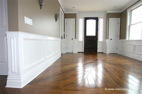 Shadow Box Wainscoting by Wainscot And Picture Frames Traditional Entry New