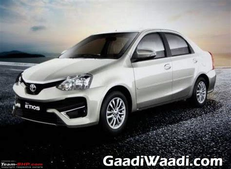 Toyota Etios India 2016 Toyota Etios Facelift Now Launched At 6 43 Lakh