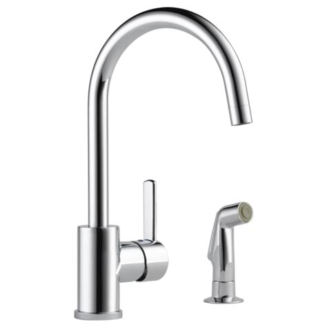 single kitchen faucet p199152lf single handle kitchen faucet with spray