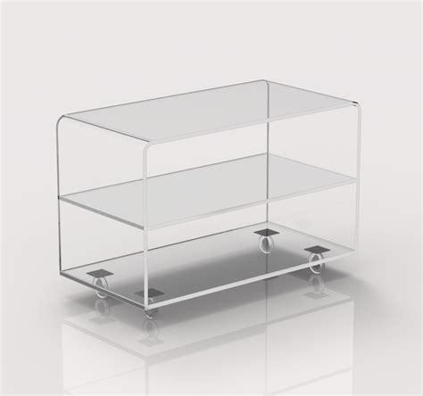 carrello porta tv carrello porta tv trasparente in plexiglass con ruote