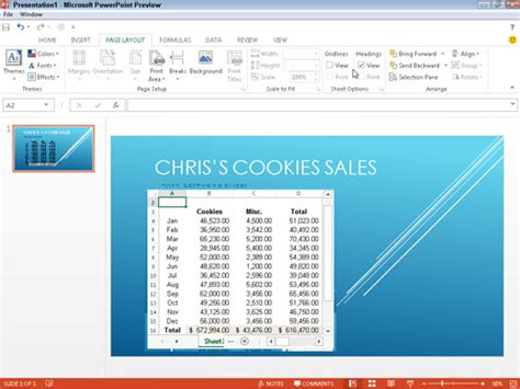 powerpoint tutorial worksheet how do you embed an excel chart into a powerpoint