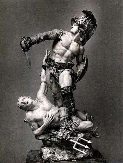roman statue tattoo gladiator statue da ara guerreros de la
