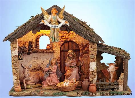 nativity sets with stable fontanini 5 quot italian nativity 6 figure set 54567