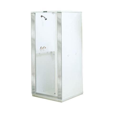 Plastic Shower Stall Shop Mustee Durastall White Fiberglass Plastic Composite