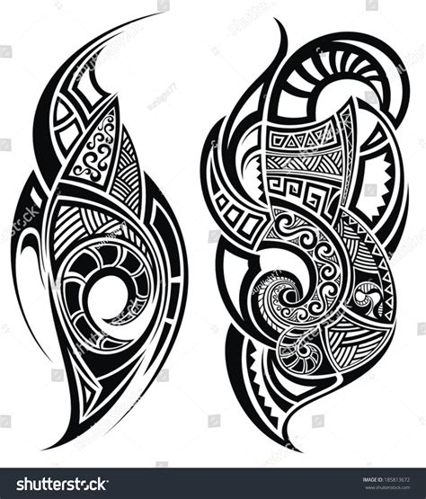 vector tattoo designs design stock vector 185813672