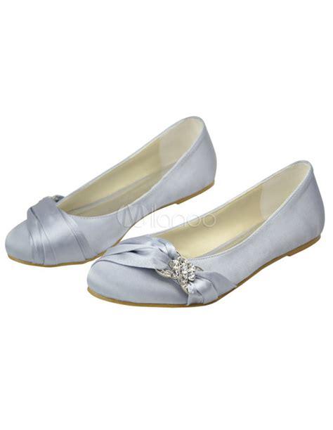 flat satin wedding shoes sweet pleated satin flat bridal wedding shoes milanoo