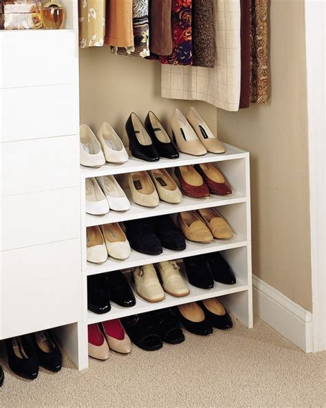 ideas for shoe storage in closet 20 space saving closet organizers