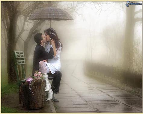 imagenes romanticas de parejas bajo la lluvia pareja con paraguas