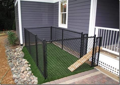 make a dog run in your backyard a small very small backyard dog run right off the porch