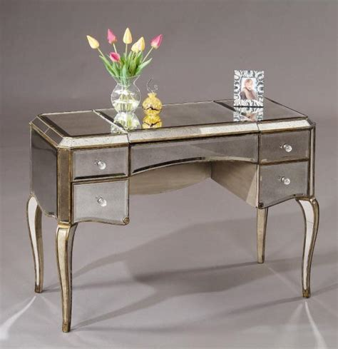 Mirror Vanity Furniture by Adding Shine With Mirrored Furniture