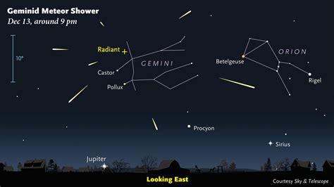 Meteor Shower December 13 geminid meteor shower returns december 13 14
