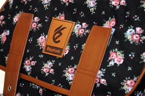 tas hitam bunga vintage murah bandung esgotado brand