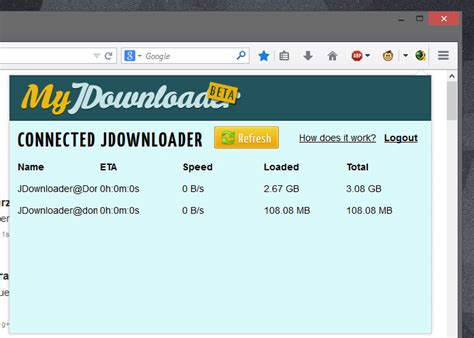 Official My JDownloader AddOn für Firefox   Download   CHIP