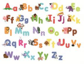 Wall Stickers Letters Animal Alphabet Wall Decals Fun And Educational Letters
