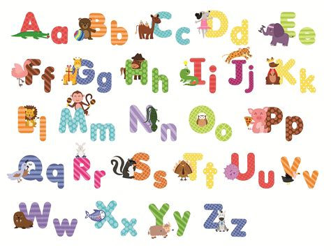 large alphabet wall stickers animal alphabet wall decals and educational letters