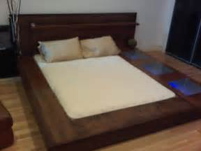 Platform Bed How To Build King Size Platform Bed Frame Woodworking
