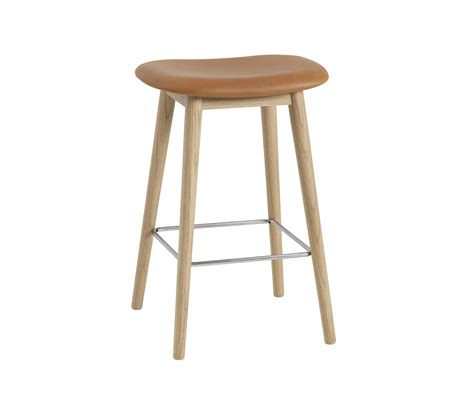 Cognac Leather Counter Stool by Fiber Bar Stool Wood Base Cognac Leather Bar Stools
