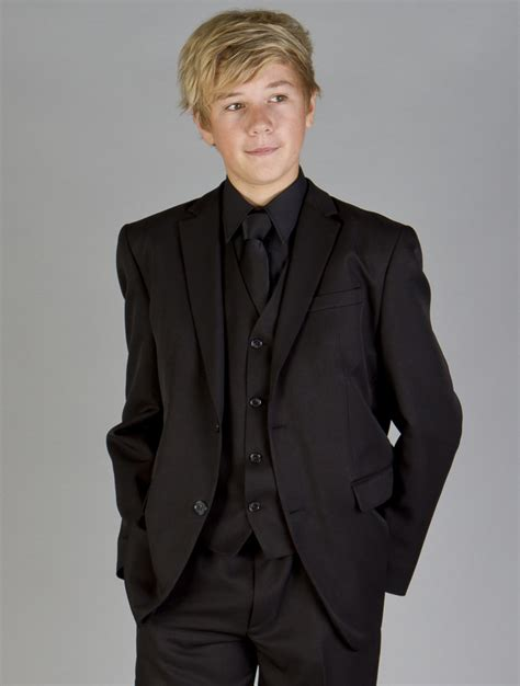 Black Formal Style Suit 41444 boys black suit boys formal suit boys wedding suit