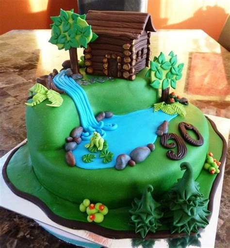 Log Cabin Cakes by Log Cabin Cake Birthday Cakes Cakes