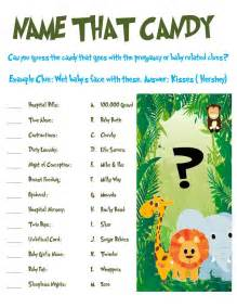 jungle animal baby shower game 2 pack special