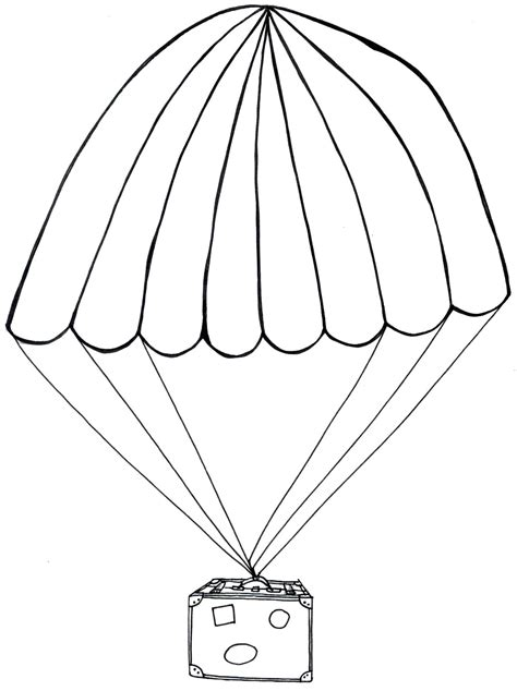 Parachute Coloring Pages free coloring pages of parachute