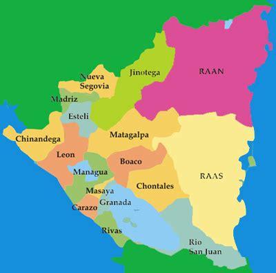 mapas de nicaragua: mapa de nicaragua y sus departamentos