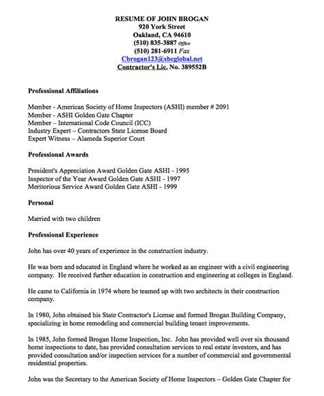 safety inspector resume