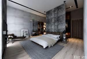wall bedroom exposed concrete wall bedroom interior design ideas