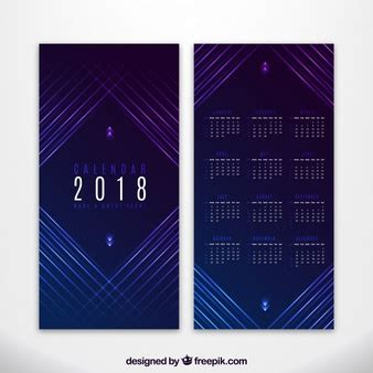 Calendar 2018 With Lines Timeline Vectors Photos And Psd Files Free