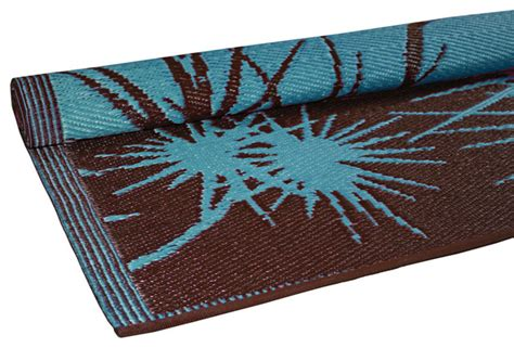 turquoise brown rug bamboo print floor mat turquoise brown contemporary newark by rhadi living