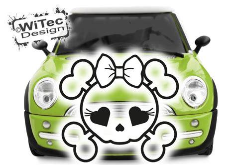 Motorhauben Aufkleber Totenkopf by Skull Girl Rockabilly Autoaufkleber Motorhaube