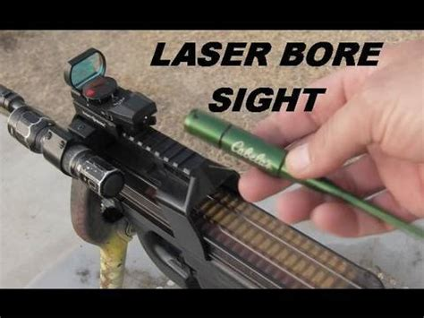 laser bore sighting a red dot sight youtube