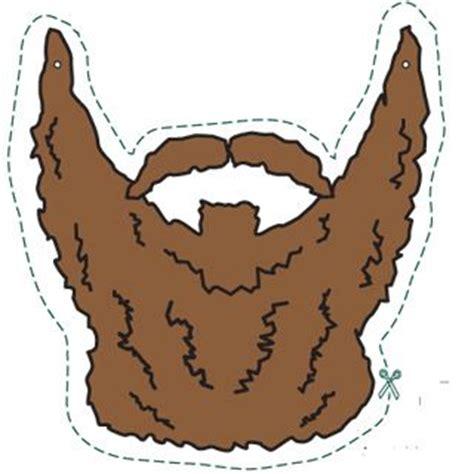 printable beard mask beard template printable clipart best