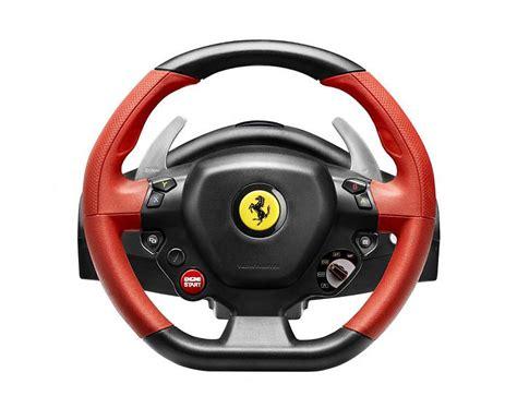 xbox one volanti compatibili recensione di thrustmaster 458 spider racing wheel