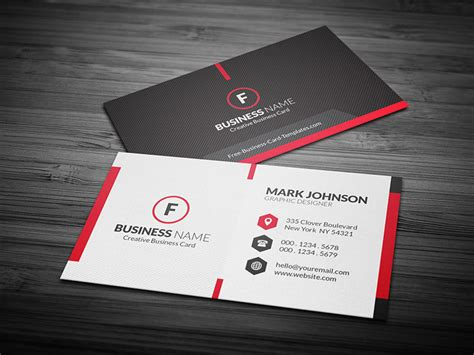 business card template free scarlet creative business card template 187 free