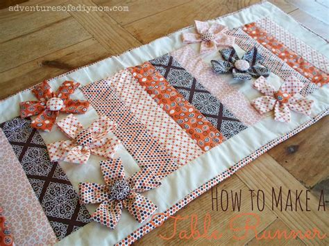 your own table runner how to a table runner with fabric flowers