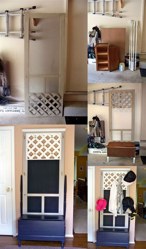 Painting Pressboard Kitchen Cabinets Found An Screen Door In My S Trash Pile And Added A Kitchen Cabinet Some Spindles