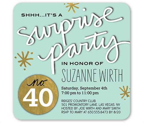 26 surprise birthday invitation templates free sle