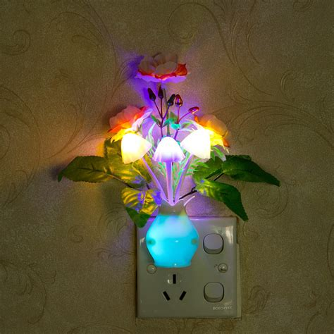 home decor led lights pomegranate led dimming night light 7 colors changing