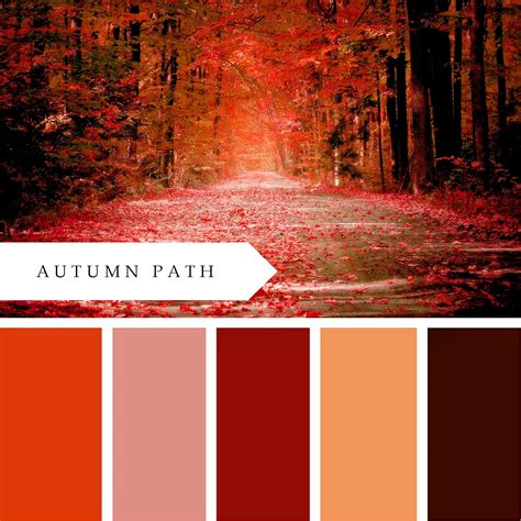 autumn color printablewisdom autumn path color palette free printable