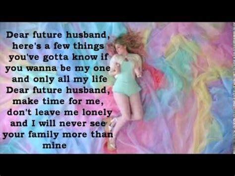 meghan trainor dear future husband lyrics youtube