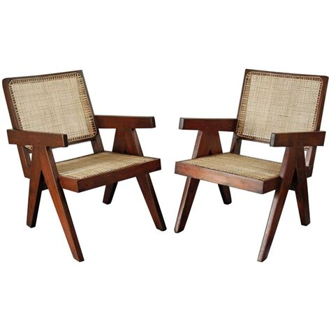easy armchairs pair of easy armchairs by pierre jeanneret at 1stdibs