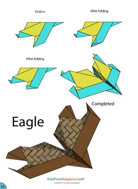 Origami Paper Airplane - paper airplane eagle crafts activities