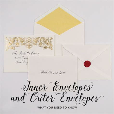 inner envelopes and outer envelopes