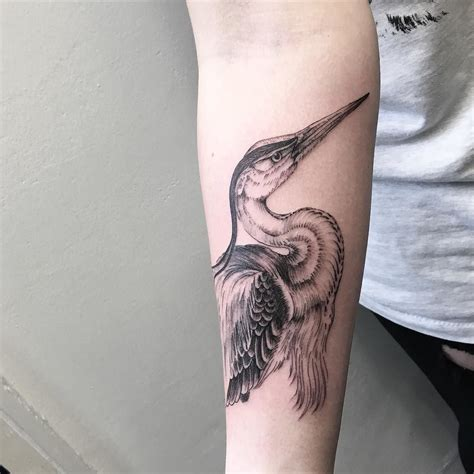 heron tattoo handsome heron on juliette thanks by